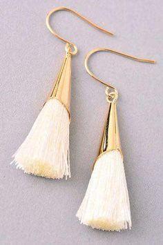 The Kiera Earrings statement tassel earrings Lead Nickel Free Tassel Earing, Tassel Jewelry, Diy Jewelry, Jewelery, Jewelry Accessories, Fashion Accessories, Handmade Jewelry, Jewelry Design, Jewelry Making