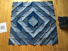 Denim Quilt made from Old Jeans – Skirt Fixation - quilt patterns Denim Quilts, Denim Quilt Patterns, Blue Jean Quilts, Denim Patchwork, Bag Patterns, Quilting Patterns, Denim Fabric, Patchwork Quilting, Rag Quilt