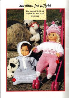 Knitting Dolls Clothes, Knitted Dolls, Crochet Dolls, Knitted Hats, Doll Clothes, Doll Patterns, Knit Patterns, Baby Born, Knitting Accessories