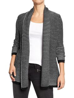 Chunky-knit cardigan from old Navy. I would wear this all. The. Time.