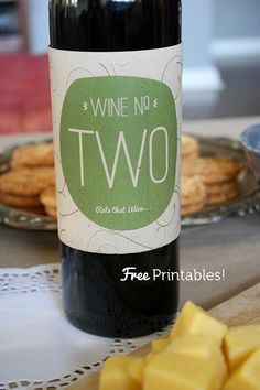 More Design Please - MoreDesignPlease - Wine-Tasting Party Printables + Give-Away
