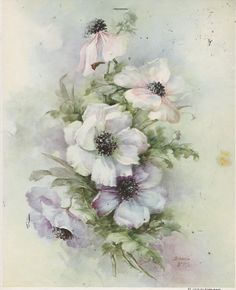 Anemones 65 by Sonie Ames China Painting Study 1974 | eBay