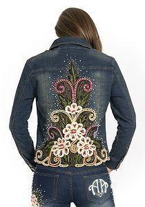 embroidered denim jacket - Google Search