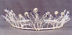 Wedding tiara handmade 'Snow Queen Tiara' by LoizouDesigns on Etsy, £130.00