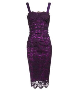 Dark violet fitted lace dress with a light violet stretch silk underdress peeking through by Dolce & Gabbana. Made in Italy Dress Skirt, Lace Dress, Dress Up, Lace Corset, Purple Mini Dresses, Short Dresses, Fitted Dresses, Special Dresses, Purple Corset
