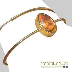 El #citrino de esta pulsera combina a la perfección con el oro que lo sostiene. Reflejos dorados, perfectos para tu piel bronceada. #bracelet #custommade #hechoamano #joya #handmadejewelry