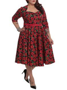 Hell Bunny Poppy Dress 2XL-4XL