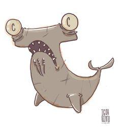 #shark #illustration #ilustracao #tubarao