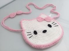 Ravelry: Cute HELLO KITTY Messenger Bag pattern by Sameh Baccouch