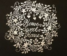 Home Sweet Home Papercut DIY Digital Template by CalicoCuts