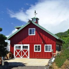 Farm & Barn Building Plans- I would love to live in something like this or have it as a second home...so cute!