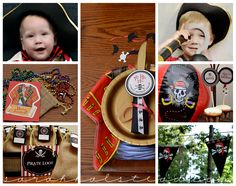 Adorable pirate party kit!