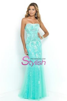 2015 Prom Dresses Strapless Column With Beading And Applique