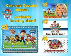 Personalized PAW Patrol cake cupcake & cookie by TheYummyToppers