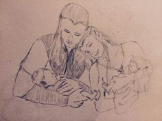 Legolas and Tauriel and twins