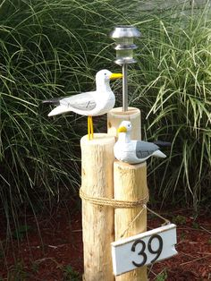 Love this idea for house numbers and solar light but with different birds. Solar Light and Address Plaque