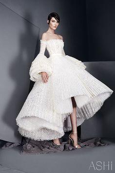 Ashi Studios S/S 2017 haute couture off the shoulder wedding gown