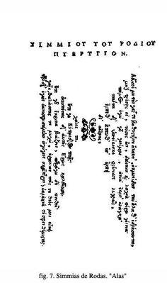 """""""Alas"""" (s. IV a.C.) de Simmias de Rodas. #Poesiavisual"""