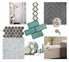 """Bathroom"" by rebenov on Polyvore featuring interior, interiors, interior design, home, home decor, interior decorating, Merola and bathroom"