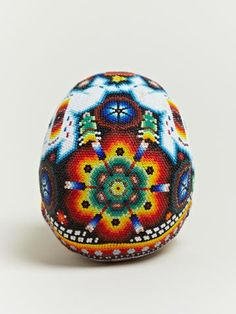 Our Exquisite Corpse Huichol Beaded Skulls trend forecasts inspiration Skull Crafts, Bead Crafts, Cow Skull, Skull Art, Native Beading Patterns, Exquisite Corpse, Beaded Skull, Mexican Folk Art, Dot Painting
