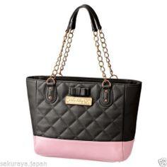 Hello Kitty Ribbon Quilt Shoulder Tote BAG Handbag Purse Pouch Sanrio Japan Gift | eBay
