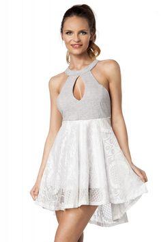 Sommer Spitzenkleid in weiß - Kleidung Onlineshop