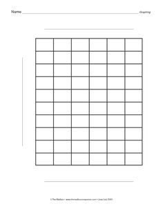 Blank Graph Paper  Rd Grade Math    Graph Paper Math
