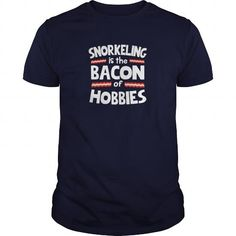 Awesome Tee  Snorkeling Is The Bacon Of Hobbies T Shirt T shirts