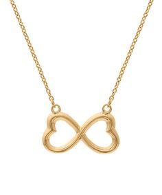 Gold Infinity Heart Pendant Necklace #zulily #zulilyfinds