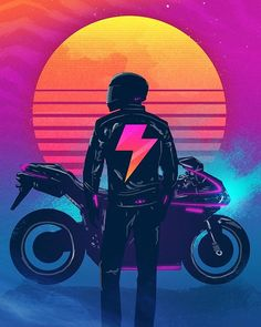 Synth Rider   Artwork by @signalnoise