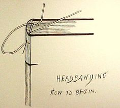 bookbinding starting sewing simple headband
