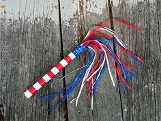 Patriotic Duck Tape Parade Stick
