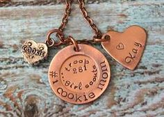 Girl Scout Hand Stamped Personalized Cookie Mom Necklace