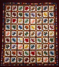 Autumn Splendor Burgundy and Multicolor Amish Quilt