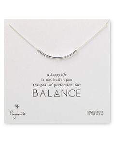 "Dogeared Balance Tube Necklace, 18"""