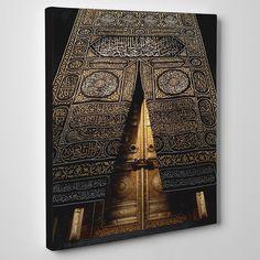 Islamic Wall Art Kaaba Gate Canvas Print Decor, Islamic Decoration Art, Islamic Home Decoration Gift, Hadj Gift, Islamic Modern Wall Art GS Metal Wall Decor, Wall Art Decor, Wall Art Prints, Canvas Prints, Islamic Decor, Islamic Wall Art, Muslim Eid, Ayatul Kursi, Ramadan Decorations