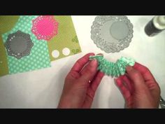 SAF 2012: Handmade Doily Medallion Embellishments....I want to try this with a pre made paper doily.