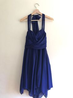 Miss Anne Cobalt Blue Halter Neck Party Dress - Size 14 Dressy Dresses, Size 14 Dresses, Halter Neck, Cobalt Blue, Daily Wear, Party Dress, Sexy, How To Wear, Collection