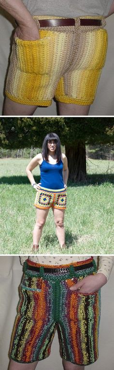 Nothing says you're stylish quite like crocheted shorts