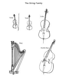 Add to resources for Instruments of the Orchestra unit! Piano Y Violin, Music Guitar, Instruments Of The Orchestra, Music Worksheets, Music School, Music Activities, Music Pictures, Elementary Music, Music Classroom