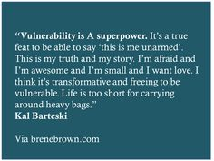 Quote I loved from Brene Brown's blog
