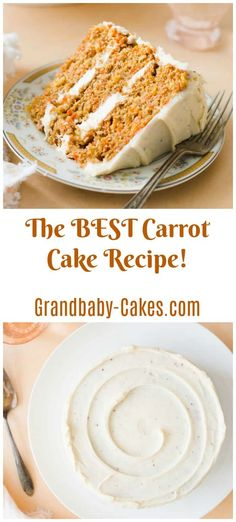 This Amazing Carrot Cake is perfect for Easter or year round! Made incredibly delicious and moist with fresh carrots pineapple a blend of warm spices and a homemade brown butter cream cheese frosting this Carrot Cake Recipe is truly the BEST dessert EVER! Easy Desserts, Delicious Desserts, Dessert Recipes, Southern Desserts, Cupcake Recipes, Pavlova, Food Cakes, Cupcake Cakes, Cupcakes