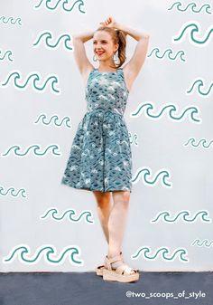Optimistic Effect Sleeveless Dress | ModCloth Cute Dresses, Vintage Dresses, Summer Dresses, Formal Dresses, Wave Pattern, Princess Seam, Modcloth, Perfect Fit, Strapless Dress