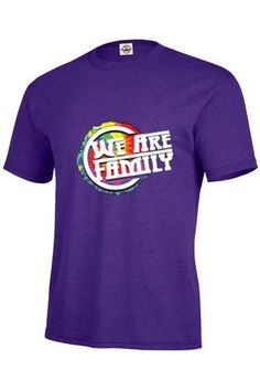 """We Are Family"" - T-Shirt - 100% Pre-Shrunk Soft Spun Cotton - 5.2 oz - Short set-in sleeves - Taped neck and shoulder seams for durability - Two-needle hemmed sleeves and bottom won't unravel - Seaml"