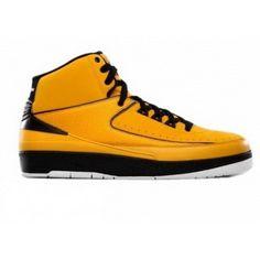 Air Jordan 2 Retro QF YellowBlack White,$178.00
