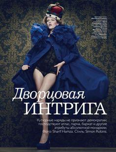 """Выставка фотографии Russia in Vogue была интересна и познавательна, однако мою жажду """"русского"""" не удовлетворила, а только подстегнула и раззадорила. Отсюда и появилась эта большая подборка сьемок в русском стиле или с его элементами. Без хронологии или какого-либо другого порядка, без…"""