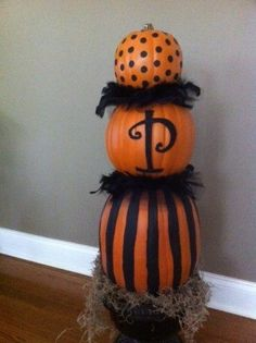 Faux Pumpkin Topiary