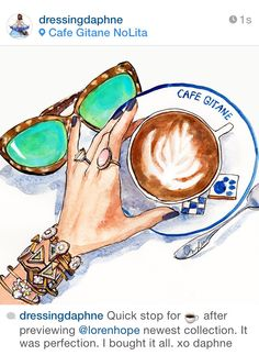 This Young New Yorker Creates The Feminine Illustrations Of Your Dreams Art Drawings, Coffee, Shoe Bag, Creative, Summer, Instagram Posts, Illustration, How To Wear, Accessories