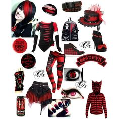"""Red and Black"" by wolfvampgirl on Polyvore"