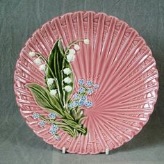 Lily of the valley ~ Vintage ceramic plate